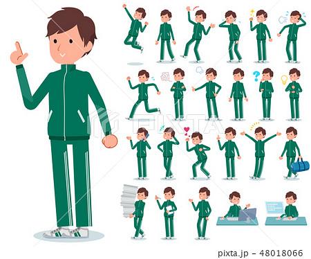 flat type school boy green jersey_emotion 48018066