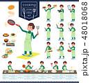 flat type school boy green jersey_cooking 48018068