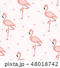 フラミンゴ パターン 柄のイラスト 48018742