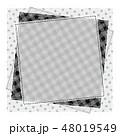 パッチワーク風 パターン柄フレーム 背景素材 テキストスペース 水玉 48019549