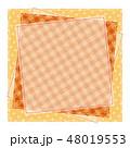 パッチワーク風 パターン柄フレーム 背景素材 テキストスペース 水玉 48019553