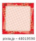 パッチワーク風 パターン柄フレーム 背景素材 テキストスペース ハート  48019590