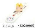 家と温湿度計 48020905