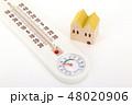 家と温湿度計 48020906