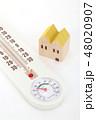 家と温湿度計 48020907