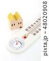 家と温湿度計 48020908