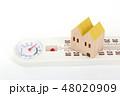 家と温湿度計 48020909