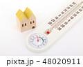 家と温湿度計 48020911