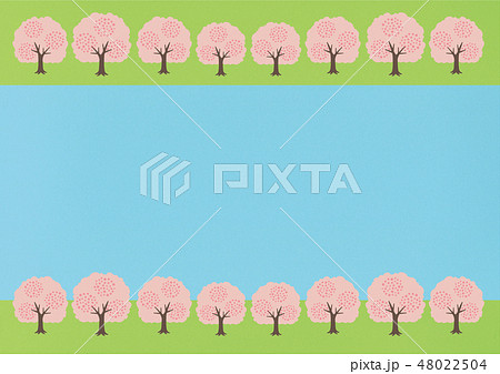 桜・桜の木・桜並木・お花見のイラスト 48022504