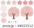 お花見・桜にまつわる桜の木・花・花びらの素材集 48022512