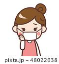 女性 マスク 困るのイラスト 48022638