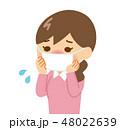 女性 マスク 花粉症のイラスト 48022639