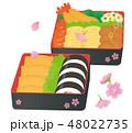 弁当 花見弁当 食べ物のイラスト 48022735