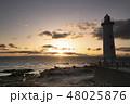 野間灯台の夕日 48025876