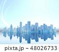 都会 都市 ビル群 高層ビル ネットワーク CG 48026733