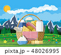 Dairy products set. Collection of milk food. 48026995
