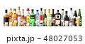 Alcohol drinks collection. Bottles with glasses. 48027053