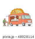 ピザ ピッツァ 貨車のイラスト 48028114