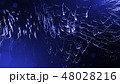 Abstract glow particles in air as science fiction microcosm or macro world or sci-fi. 3d render of 48028216