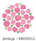 ばら 花 ベクターのイラスト 48030311