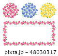 花 ベクター フレームのイラスト 48030317