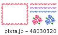 花 ベクター フレームのイラスト 48030320