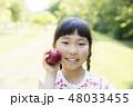 女の子 旅行 林檎の写真 48033455