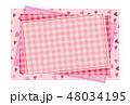 パッチワーク風フレーム 背景素材 ポストカード ハート柄 48034195