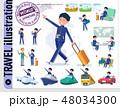 flat type school boy Blue jersey_travel 48034300