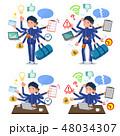 flat type school boy Blue jersey_mulch task Office 48034307