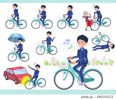 flat type school boy Blue jersey_city cycle 48034323
