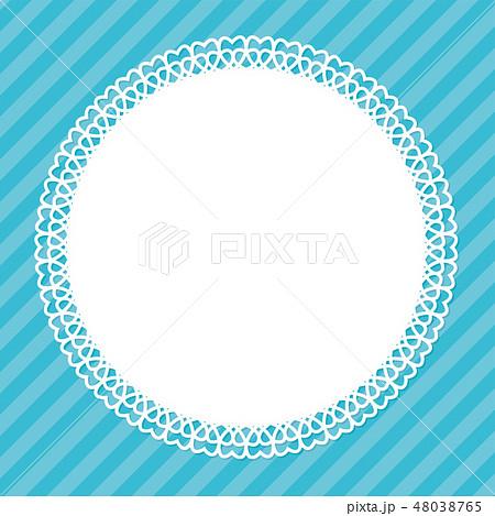 レースのフレーム素材(ブルー) 48038765