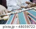 手 アメリカ原住民 ニット素材の写真 48039722