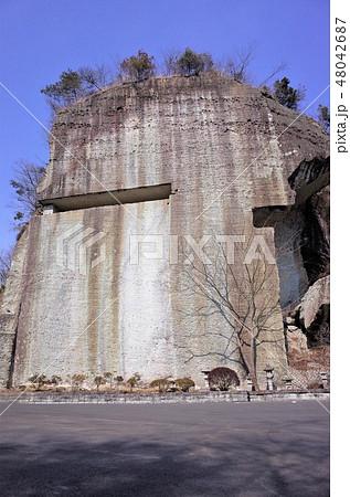 地下の採石場跡、石切り場跡、歴史的、栃木県宇都宮市、大谷資料館 48042687