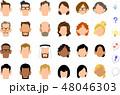 アイコン 顔 バリエーションのイラスト 48046303