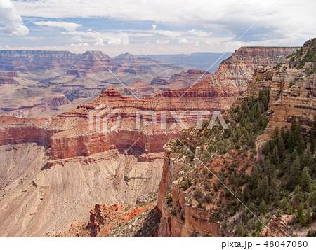 アメリカ合衆国 アリゾナ州 グランド・キャニオン マーサー・ポイントにて 48047080