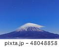富士山と雲の共演(笠雲・雲海) 48048858