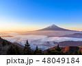 富士山 雲海 夜明けの写真 48049184