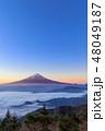 富士山 雲海 夜明けの写真 48049187