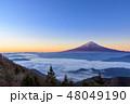 富士山 雲海 朝焼けの写真 48049190
