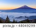 富士山 雲海 夜明けの写真 48049299