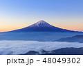 富士山 雲海 夜明けの写真 48049302