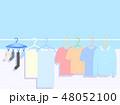 晴れの日の洗濯物イラスト 48052100