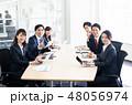 会議 ビジネスマン ビジネスの写真 48056974