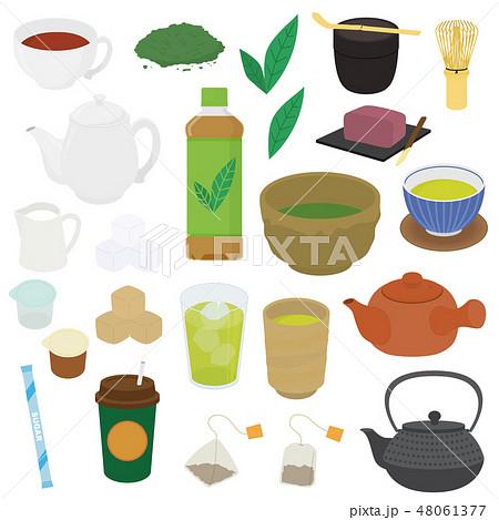 色々なお茶のイラスト 48061377
