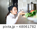 キッチン 厨房 女性の写真 48061782