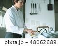 キッチン 厨房 男性の写真 48062689