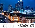 夜 夜景 ビル群の写真 48069103