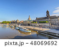 Dresden Germany, city skyline at Elbe River 48069692