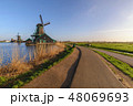 Netherlands Dutch Windmill at Kinderdijk Village 48069693